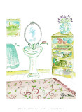 Girly Bathroom II Prints by Julia Minasian