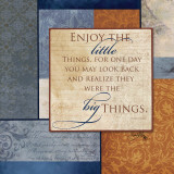 Enjoy the Little Things Poster by Elizabeth Medley