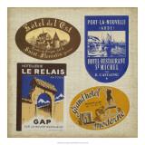 Vintage Travel Collage II Prints