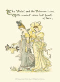 Shakespeare's Garden XI (Violet & Primrose) Lminas por Walter Crane