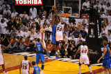 Dallas Mavericks v Miami Heat - Game Two, Miami, FL - JUNE 2: Joel Anthony and Brendan Haywood Photographic Print by Noah Graham