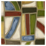 Stained Glass Abstraction IV Prints by Karen Deans