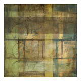 Guilded Turquoise II Print by Jennifer Goldberger