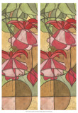 2-Up Stain Glass Floral II Prints by Jason Higby