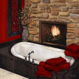 Fireplace Bath I Prints by Hakimipour-Ritter 