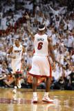 Dallas Mavericks v Miami Heat - Game Two, Miami, FL - JUNE 2: LeBron James Photographic Print by Garrett Ellwood