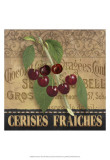 Fresh Cherries Prints by Abby White
