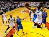 Dallas Mavericks v Miami Heat - Game One, Miami, FL - MAY 31: Dwyane Wade and Jason Kidd Photographic Print