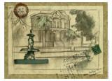 Small Postcard from the Villa II Plakat af Jennifer Goldberger