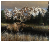 Majest&#233; des Tetons Posters par Kevin Daniel
