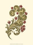 Jacobean Leaf II Print