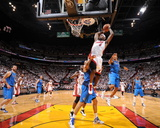 Dallas Mavericks v Miami Heat - Game Two, Miami, FL - JUNE 2: LeBron James, Tyson Chandler and Shaw Photographic Print by Andrew Bernstein