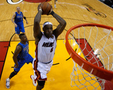 Dallas Mavericks v Miami Heat - Game Two, Miami, FL - JUNE 02: LeBron James Photographic Print