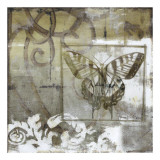 Butterfly & Ironwork III Giclee Print by Jennifer Goldberger