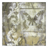 Butterfly & Ironwork II Giclee Print by Jennifer Goldberger