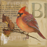 Red Love Birds I Posters by Patricia Quintero-Pinto