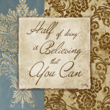 Half of Doing is Believing Poster van Elizabeth Medley