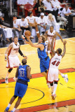 Dallas Mavericks v Miami Heat - Game One, Miami, FL - MAY 31: Dirk Nowitzki and Udonis Haslem Photographic Print by Noah Graham