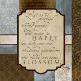 Happy Blossom Prints by Elizabeth Medley