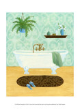 Bath Tranquility I Poster by Louise Max