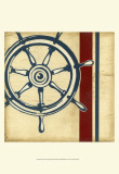 Americana Captain's Wheel Print by Ethan Harper