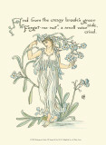 Shakespeare&#39;s Garden VII (Forget me not) Affiches par Walter Crane