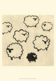 Best Friends - Sheep Prints by Chariklia Zarris