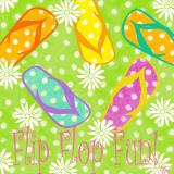 Flip Flop Fun Poster by Rebecca Lyon