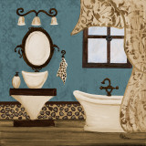 Blue Beach Bath IV Prints by Gina Ritter