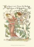 Shakespeare&#39;s Garden III (Rose) Art by Walter Crane