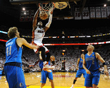 Dallas Mavericks v Miami Heat - Game Two, Miami, FL - JUNE 02: Dwyane Wade, Dirk Nowitzki and Jason Photographic Print