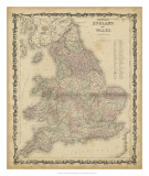 Johnson's Map of England & Wales Prints