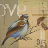 Blue Love Birds II Prints by Patricia Pinto