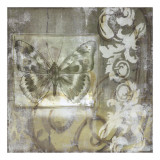 Butterfly & Ironwork I Giclee Print by Jennifer Goldberger