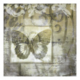 Butterfly & Ironwork IV Giclee Print by Jennifer Goldberger