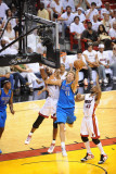 Dallas Mavericks v Miami Heat - Game One, Miami, FL - MAY 31: Dirk Nowitzki and Chris Bosh Photographic Print by Noah Graham