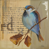 Blue Love Birds I Print by Patricia Pinto