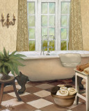 French Bath I Art by Elizabeth Medley
