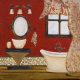 Palm Beach Bath IV Art by Gina Ritter