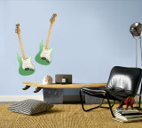 Green Guitars Wall Decal