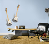 Grey Guitars Wall Decal