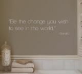 Change - Gandhi - Grey Autocollant