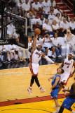 Dallas Mavericks v Miami Heat - Game Two, Miami, FL - JUNE 2: Dwyane Wade and J.J. Barea Photographic Print by Noah Graham