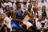 Dallas Mavericks v Miami Heat - Game Two, Miami, FL - JUNE 02: Dwyane Wade and DeShawn Stevenson Photographic Print by Ronald Martinez