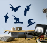 Snowboarders - Navy Wall Decal