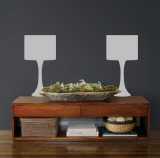 Grey Modern Lamps Autocollant mural