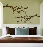 Brown Branch With Birds Autocollant mural
