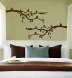 Brown Branch With Birds Kalkomania ścienna
