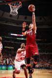 Miami Heat v Chicago Bulls - Game Five, Chicago, IL - MAY 26: Mike Miller and Kurt Thomas Photographic Print by Nathaniel S. Butler