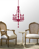 Red Classic Chandelier Wall Decal